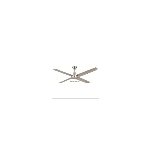 Typhoon Mach 2 142cm (56) Ceiling Fan with Metal Blades - Finish Brushed Chrome - Hunter Pacific