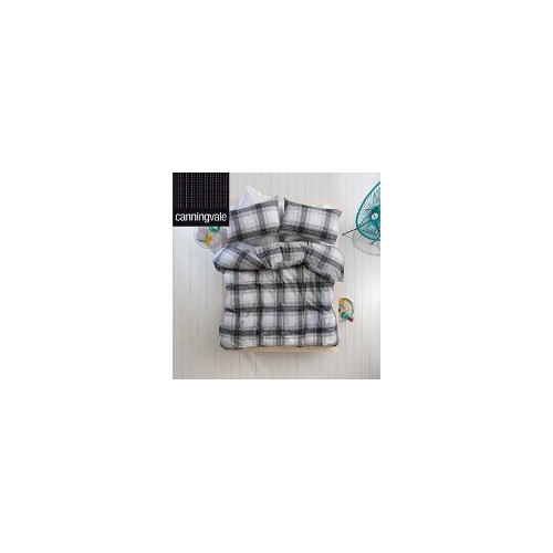 Canningvale Felix Yarn Dyed Cotton Double Quilt Cover Set