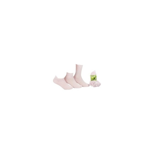 Infant 2 x 6Pk Infant Bamboo Sock-pink+whitesize 8-11