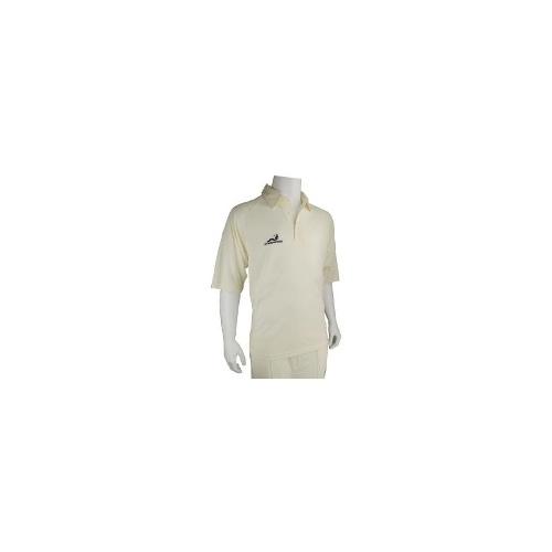 Woodworm Pro Series Short Sleeve White Cricket Shirt- Mens XLarge