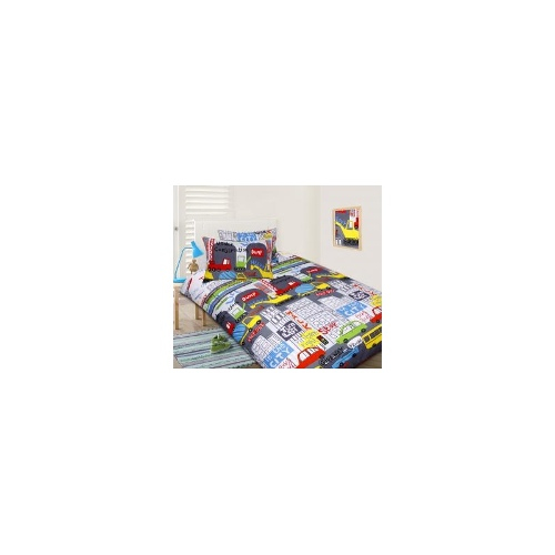 Single Bed 5 Pc Bed Bundle Set - In the City