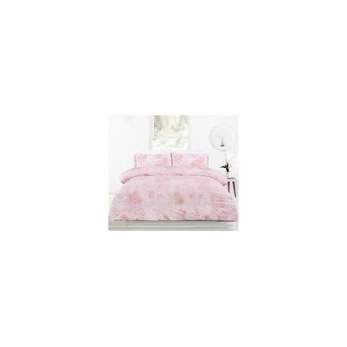 Chantelle Pink Microfiber Quilt Cover Set - Single Bed