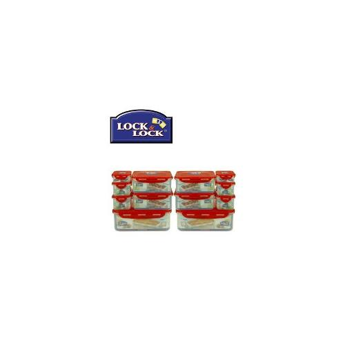 Lock and Lock Mega Value Container 14-piece Pack with Red Lids