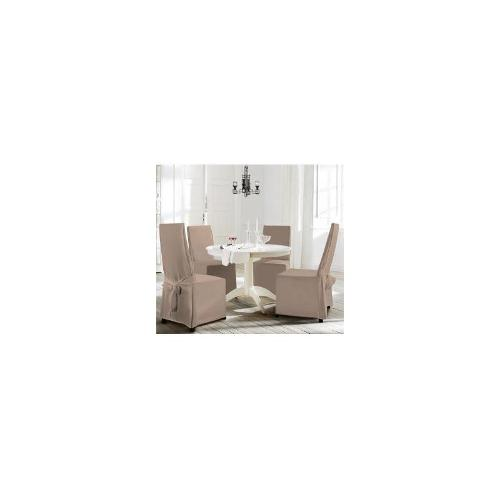 4PC Microfiber Dining Room Chair Cover