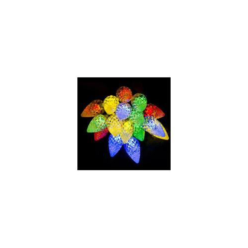Christmas 9.9m Solar LED Berries - Multi-colour