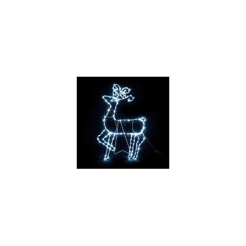 88cm LED Reindeer with Stand - White