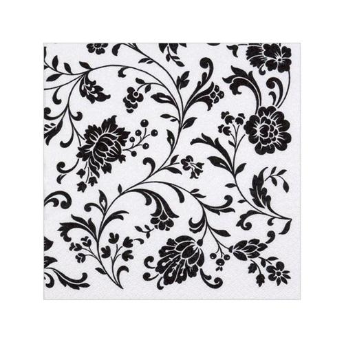 Black & White Tapestry Paper Napkins