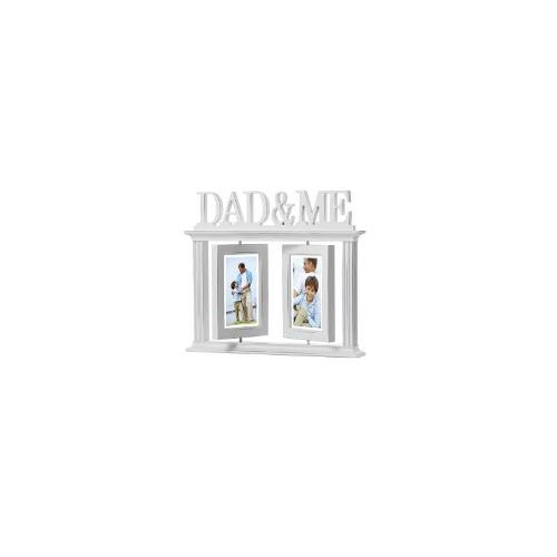 2 Opening Dad & Me Photo Frame - Distressed White