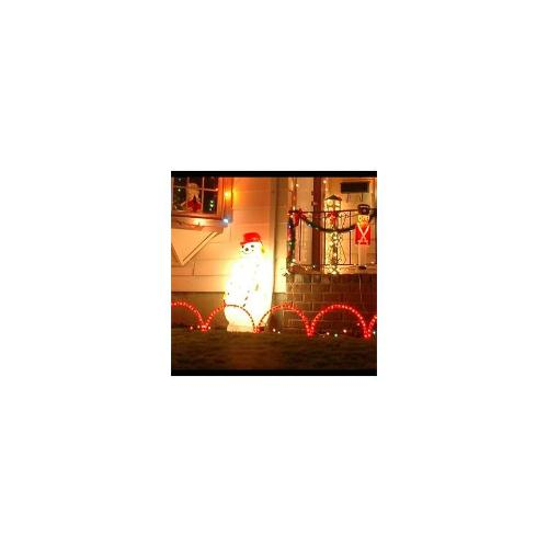 Christmas 5pc LED Garden Candy Cane Wave Arches
