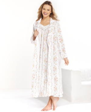 Charter Club Collection Robe, Long Quilted Shawl Collar Robe
