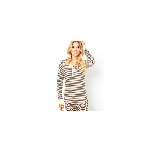 Vero Moda Bobbs Stripe Lounge Top - Brown