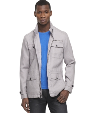 Kenneth Cole Reaction Jacket, Linen Anorack Jacket