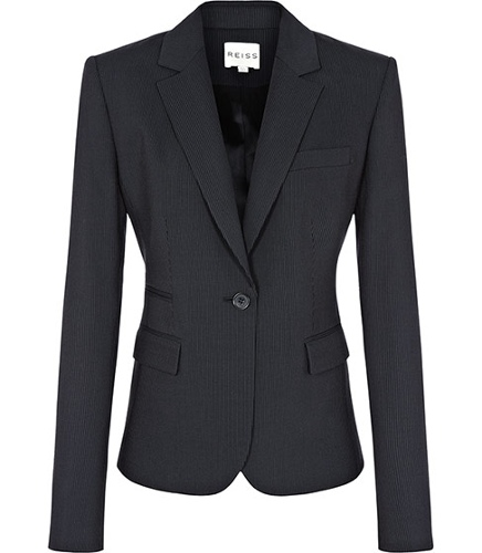 Reiss Rafine Lee PINSTRIPE ONE BUTTON JACKET