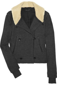 Euston shearling-trimmed wool jacket