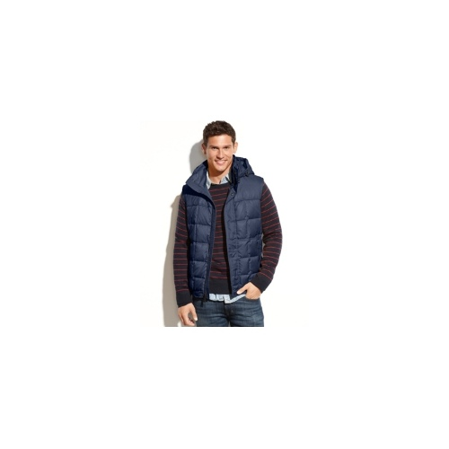 Marc New York Vest, Dublin Removable Hood Ultra Down Quilted Vest