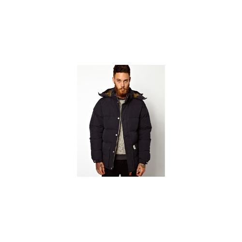 Fat Moose Padded Jacket with Hood - Navy