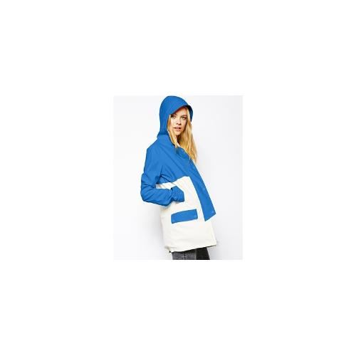 ASOS Block Rain Coat - Blue