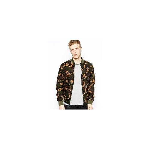 Fred Perry Margate Camo Bomber - Green