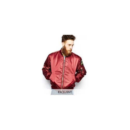 Reclaimed Vintage MA1 Bomber Jacket - Red