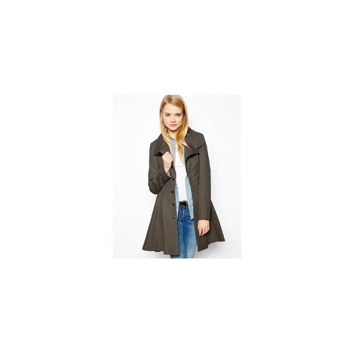 ASOS Skater Coat With Popper Front - Charcoal £30.00