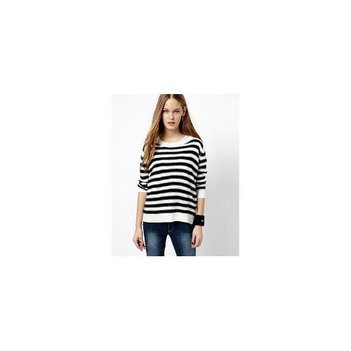 J.D.Y Striped Crew Neck Knitted Jumper - Multi