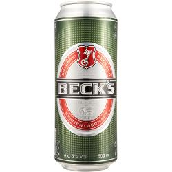 24 x1 Beck's Beer Cans 500mL - Fully Imported