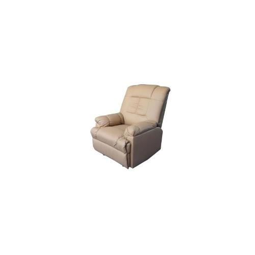 Faux Leather Recliner Massage Chair - Taupe