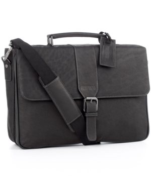 Kenneth Cole Reaction Business Case, Columbian Leather Double Gusset Flapover Computer Case