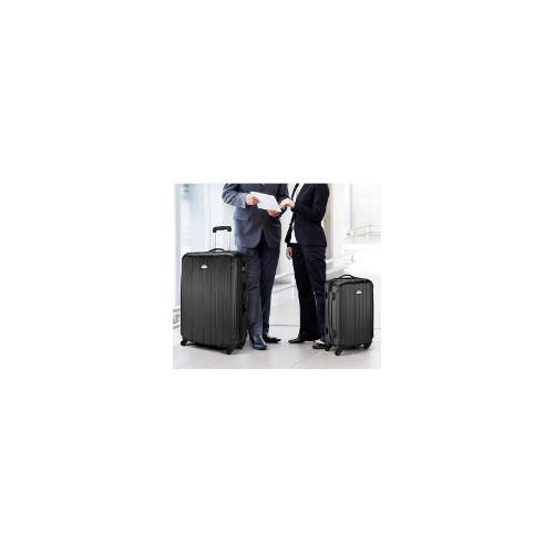 Holiday Hard-sided ABS 2 Piece Luggage Set - Black
