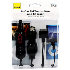 Logic3 FM Transmitter and Car Charger for iPod