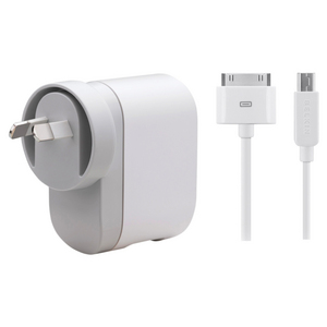 Dual USB AC Power Adapter For iPods & USB Devices