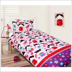China Doll Quilt Cover Set Size: Single - Bedding Sets