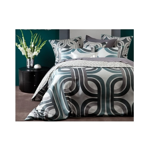 Xanadu Teal | King quilt cover set by Linen House