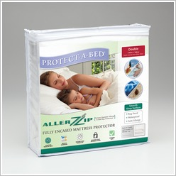 Protect-A-Bed - Allerzip Smooth Fully Encased Mattress Protector Size: Double - Protectors & Underblankets