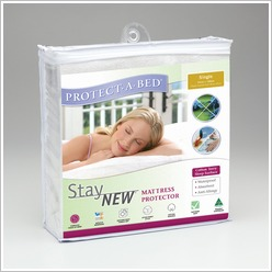 Protect-A-Bed - StayNew Terry Mattress Protector Size: King - Protectors & Underblankets