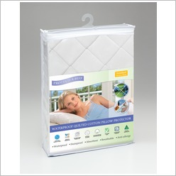 Protect-A-Bed - Cotton Quilted Pad Pillow Protector - Protectors & Underblankets