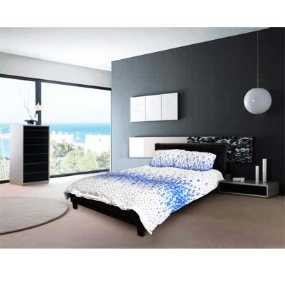 Double PU Leather Bed Frame -BLACK