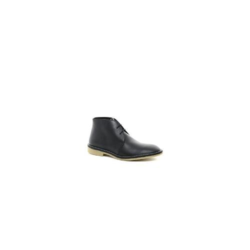 Frank Wright Leather Desert Boots - Black