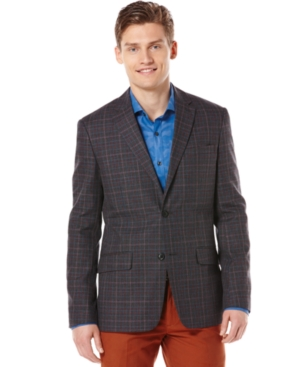 Perry Ellis Jacket, Multi Color Stripe Blazer