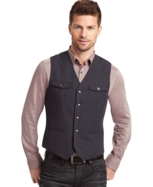 Kenneth Cole New York Vest, Chest Flap Pocket Vest