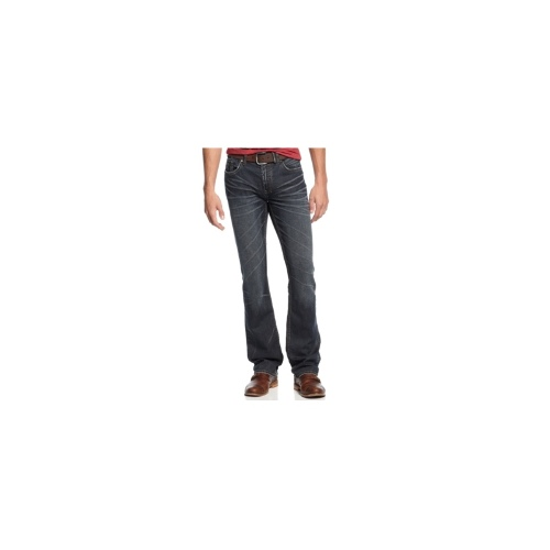 Buffalo David Bitton Jeans, Six-X Slim Straight-Leg, Lightly Sandblasted Wash