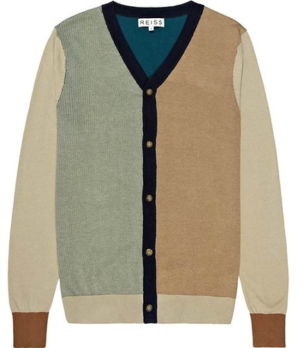 Reiss Fairview MULTI COLOUR LONG SLEEVE CARDIGAN