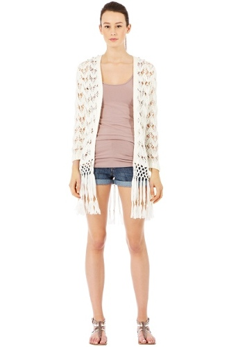 Stud Stitch Shoulder Cardi