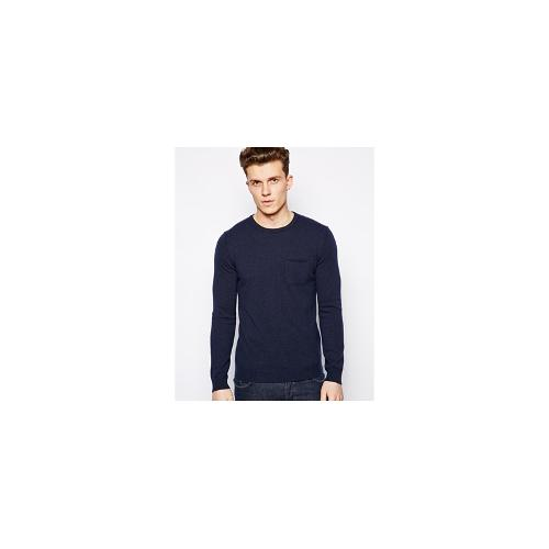 United Colors Of Benetton Jumper In Cashmere Mix - Navy