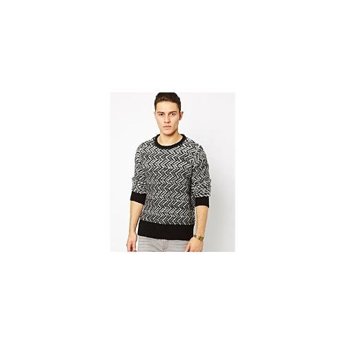Blood Brother Zig Zag Jumper - Black