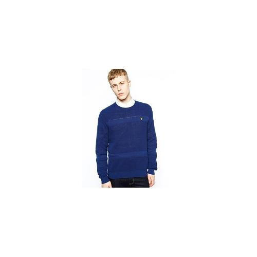 Lyle & Scott Vintage Jumper with Textured Knit - Blue