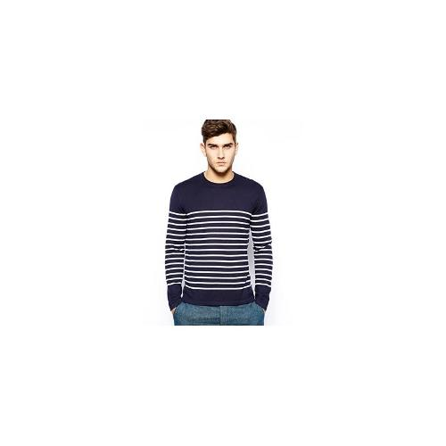 Polo Ralph Lauren Jumper with Breton Stripe - Blue