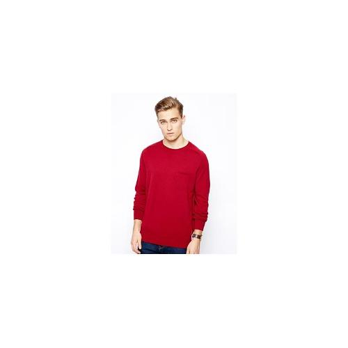 Ben Sherman Jumper with Chest Pocket - Red