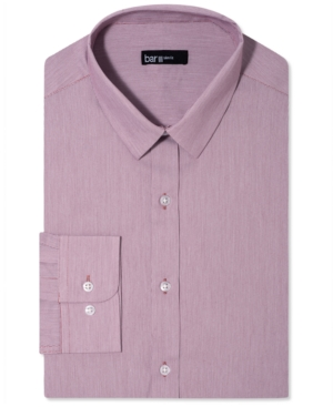 Bar III Dress Shirt, Slim-Fit Merlot Fineline Stripe Long-Sleeved Shirt