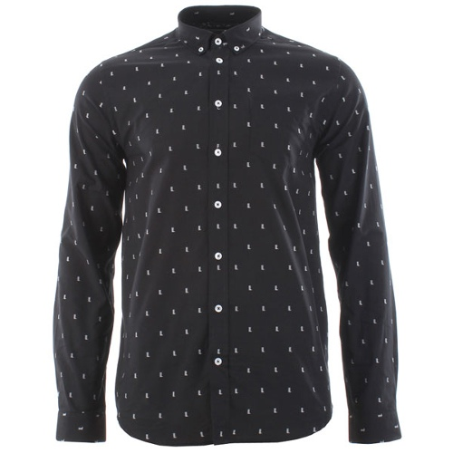 """Libertine Libertine Hunter River Shirt - Black/White"""
